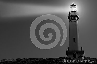 Pigeon Point Lighthouse in Black and White