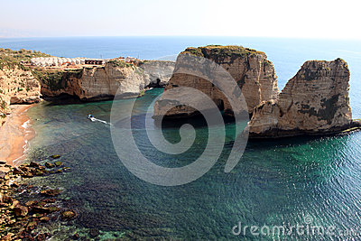 Pigeon Rocks in Beirut