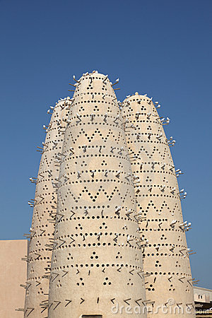Pigeon Towers in Doha, Qatar