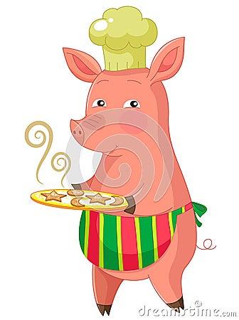Piggie do padeiro
