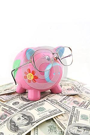 Piggy φθορά γυαλιών τραπεζών