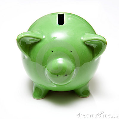 Piggy банка зеленое