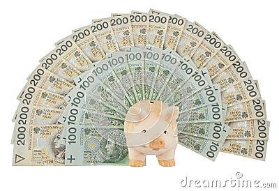 Piggy с деньгами