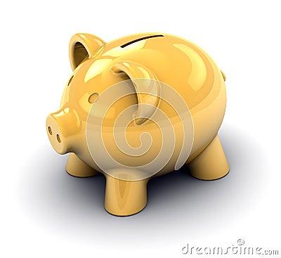 Piggy банка золотистое