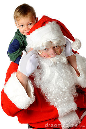 Piggy-Back Santa Stock Photography - Image: 11745422