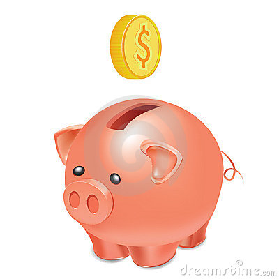Free Piggy Bank Royalty Free Stock Photo - 17391745