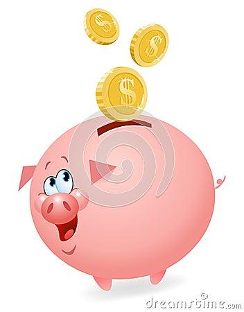 Free Piggy Bank Royalty Free Stock Photo - 18892015