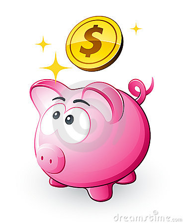 Free Piggy Bank And Dollars Stock Photo - 11853600