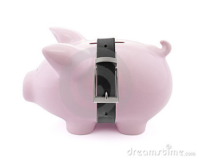 Piggy bank with belt