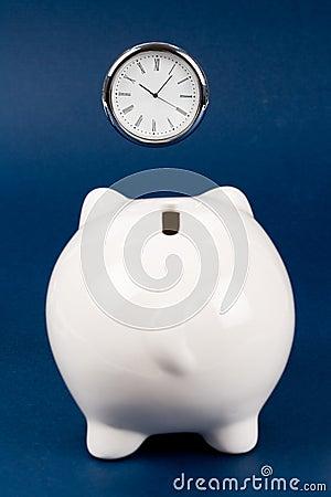 Piggy Bank and clock