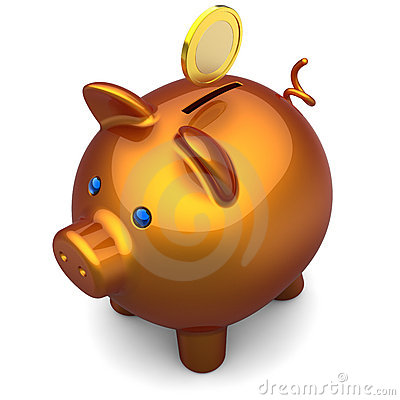 Piggy bank Deluxe. Savings concept (Hi-Res)