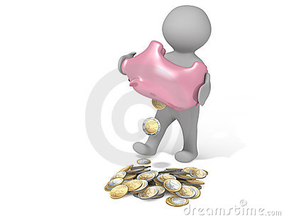 Piggy bank empty