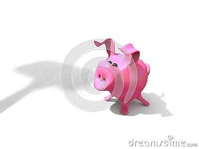 Piggy bank before execution
