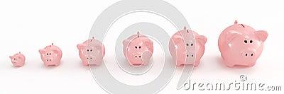 Piggy bank family