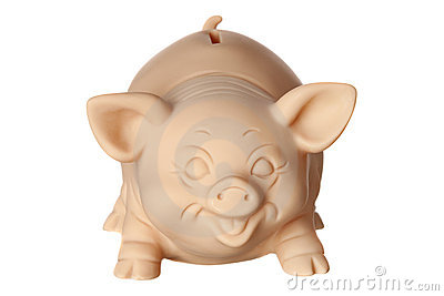 Piggy bank in front