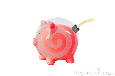 Piggy bank gas can