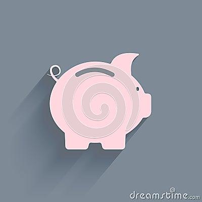 Free Piggy Bank Icon Stock Photos - 42051583