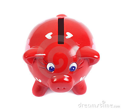 Free Piggy Bank In Love Stock Photography - 12912202
