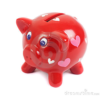 Free Piggy Bank In Love Royalty Free Stock Photos - 12912338