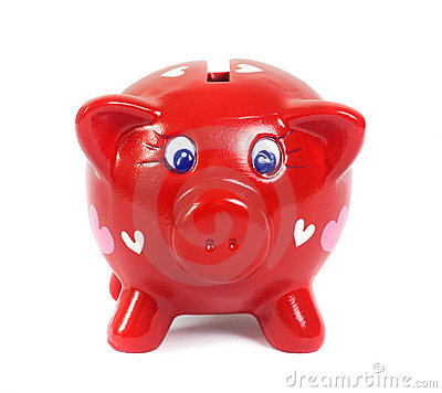 Free Piggy Bank In Love Stock Photo - 12912520
