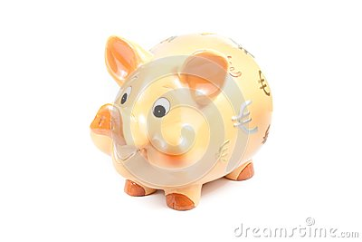 Piggy bank isolated, concept for business and save money