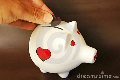 Piggy bank love of money