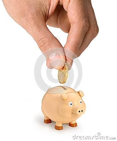Piggy Bank Money Hand Dollar