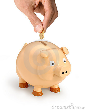 Piggy Bank Money Hand Superannuation