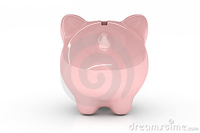 Piggy Bank over White