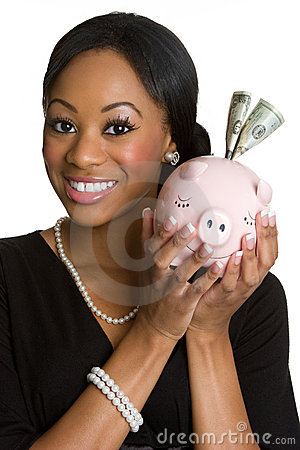 Free Piggy Bank Person Stock Image - 7946481