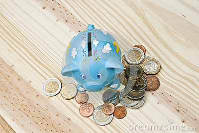 Piggy bank and save money