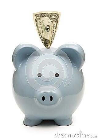 Piggy bank and saving
