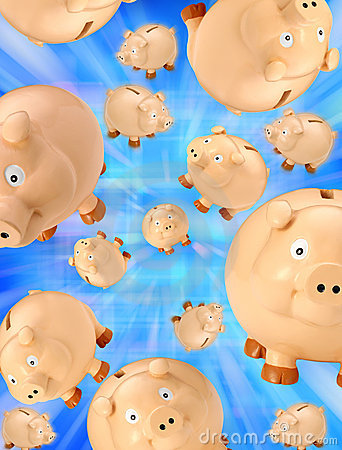 Piggy Bank Savings Background