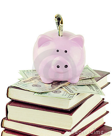 Piggy Bank and School Books