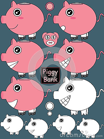 Piggy Bank Set_eps