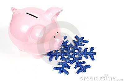 Piggy Bank and Snowflake - Heating Cost