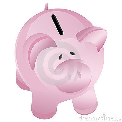 Piggy bank style money box