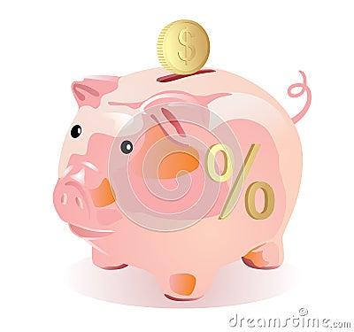 Piggy bank style money box