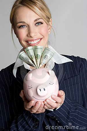 Piggy Bank Woman