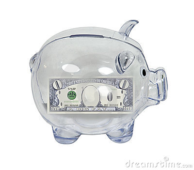 Piggy Bank with Zero Savings
