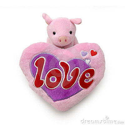 Piggy with big heart