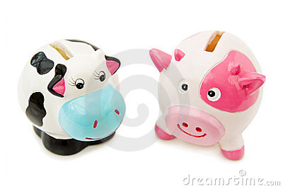 Piggy and Cowie money banks