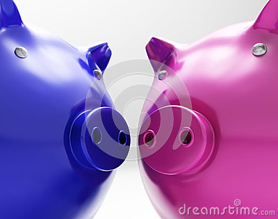 Piggy Duo Shows Investing Finances Together