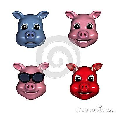 Piggy Emoticons