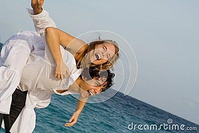 piggyback laughing