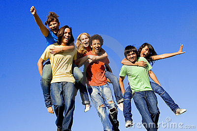 piggyback teenagers