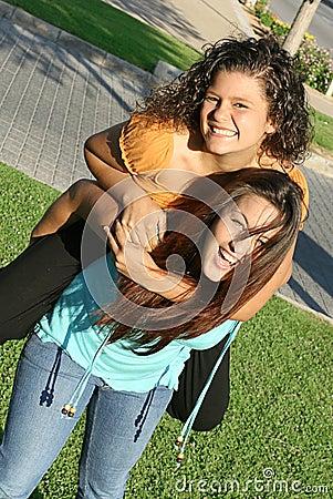 Free Piggyback Teenagers Royalty Free Stock Photo - 831075