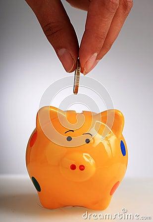 Free Piggybank. Royalty Free Stock Photos - 30833178