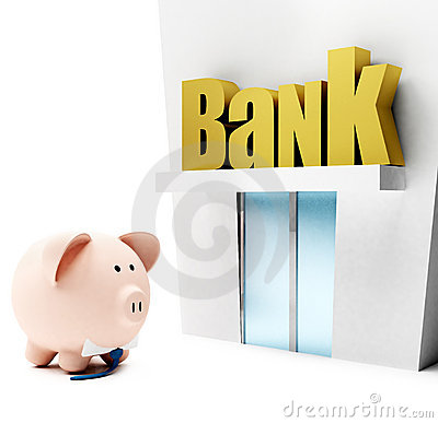Piggybank at the bank