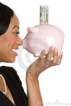 Piggybank Businesswoman